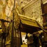 The catafalque of Christopher Columbus in Seville Cathedral