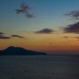 Island of Capri at sunset