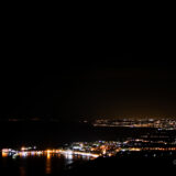 Sicilian coastline at night