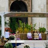 Pope Benedict XVI celebrates the Easter Mass
