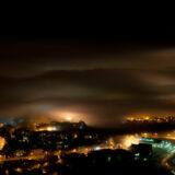 Clouds, Fog and City Lights