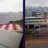 Brazilian funny airports: either the landing strip rises out of the sea (SDU) or it runs right next to the street (CGH)